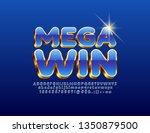 vector luxury poster mega win... | Shutterstock .eps vector #1350879500