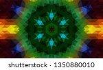 geometric design  mosaic of a... | Shutterstock .eps vector #1350880010