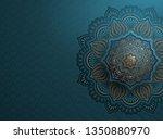 arabesque motif design...   Shutterstock .eps vector #1350880970