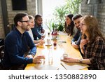 picture of young business... | Shutterstock . vector #1350882890