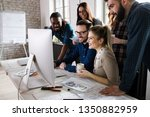 young architects working on... | Shutterstock . vector #1350882959