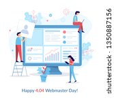 happy 404 webmasters day.... | Shutterstock .eps vector #1350887156