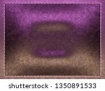 leather stitched texture or... | Shutterstock . vector #1350891533