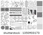 mega set of memphis design... | Shutterstock .eps vector #1350903173