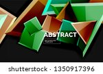 shiny style geometric... | Shutterstock .eps vector #1350917396