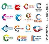 letter c business corporate... | Shutterstock .eps vector #1350925016