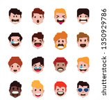 collection of cute flat avatars ... | Shutterstock .eps vector #1350929786