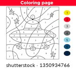 Number Coloring Page For...