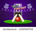 live cricket streaming on... | Shutterstock .eps vector #1350940703