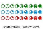 set of timer icons. black and... | Shutterstock .eps vector #1350947096