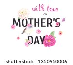holiday card with love on...   Shutterstock .eps vector #1350950006