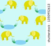 seamless pattern with cute... | Shutterstock .eps vector #1350952613