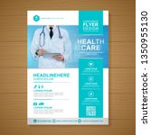 healthcare cover a4 template... | Shutterstock .eps vector #1350955130