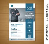 business cover a4 template for... | Shutterstock .eps vector #1350955133