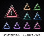 triangular signs set on... | Shutterstock .eps vector #1350956426