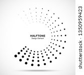 halftone dotted circle frame... | Shutterstock .eps vector #1350959423