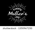vector image happy mother's day | Shutterstock .eps vector #1350967250
