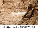 high rocky mountains in the... | Shutterstock . vector #1350973193