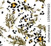 modern animal skin prints and... | Shutterstock .eps vector #1350984410