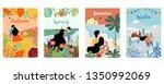 orange green blue season... | Shutterstock .eps vector #1350992069