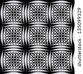 black white pattern with... | Shutterstock .eps vector #135099329