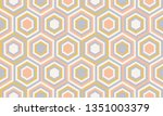 abstract geometry in retro... | Shutterstock .eps vector #1351003379