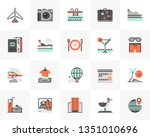 flat line icons set of trip... | Shutterstock .eps vector #1351010696
