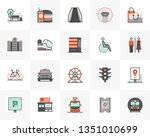 flat line icons set of city... | Shutterstock .eps vector #1351010699
