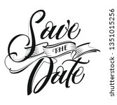 save the date postcard. wedding ... | Shutterstock .eps vector #1351015256