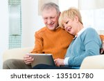 quality of life   two elderly... | Shutterstock . vector #135101780