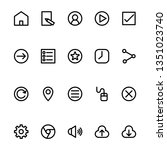 user interface icon outline