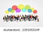 business social networking and... | Shutterstock .eps vector #1351053149