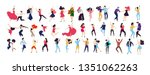 crowd of young people dancing... | Shutterstock .eps vector #1351062263