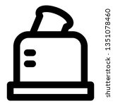 toaster bold line icon which... | Shutterstock .eps vector #1351078460