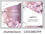 set of vector banners with... | Shutterstock .eps vector #1351080299