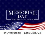 memorial day background with... | Shutterstock .eps vector #1351088726