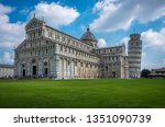 view of the pisa cathedral... | Shutterstock . vector #1351090739