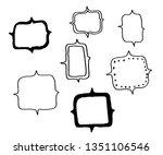 hand drawn set of vector frames....   Shutterstock .eps vector #1351106546