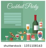 party celebration drinks and... | Shutterstock .eps vector #1351108163