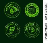 vector green design element for ... | Shutterstock .eps vector #1351121333