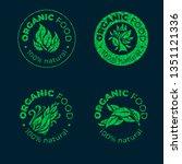 vector green design element for ... | Shutterstock .eps vector #1351121336