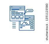 webpage blogging line icon... | Shutterstock .eps vector #1351123580