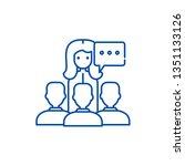 teaching line icon concept.... | Shutterstock .eps vector #1351133126