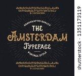 """amsterdam"". vintage... | Shutterstock .eps vector #1351173119"
