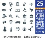 police icons set | Shutterstock .eps vector #1351188410