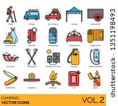 camping icons including hiking  ... | Shutterstock .eps vector #1351198493