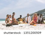 front view of multi ethnic... | Shutterstock . vector #1351200509