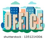 letters  the word office is... | Shutterstock .eps vector #1351214306