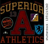 superior athletics print and... | Shutterstock .eps vector #1351215260