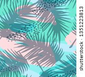 seamless exotic pattern with...   Shutterstock .eps vector #1351223813